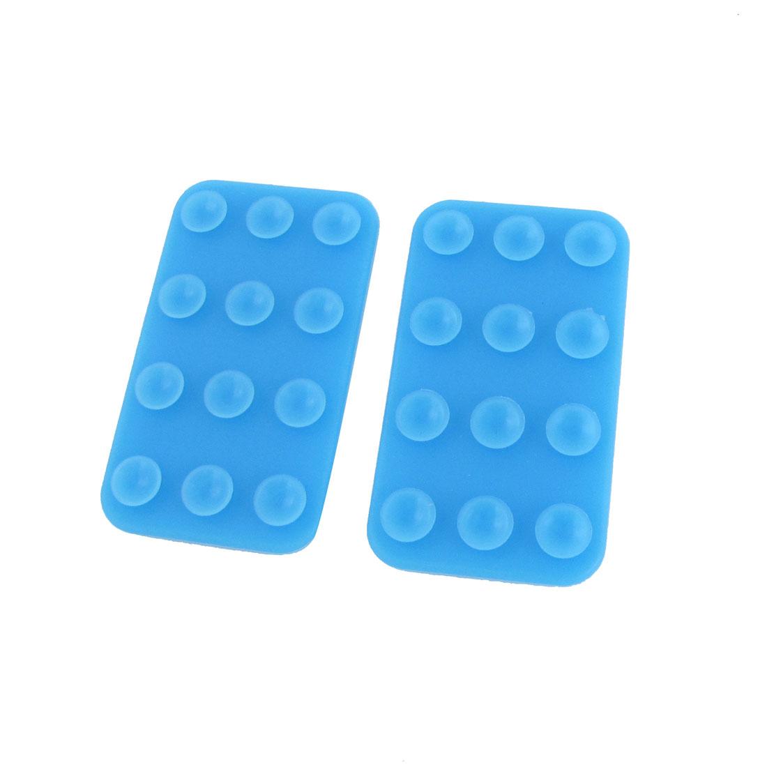 2pcs Simple Mobile Phone Sucker Magic Mat Holder Blue for Smartphone