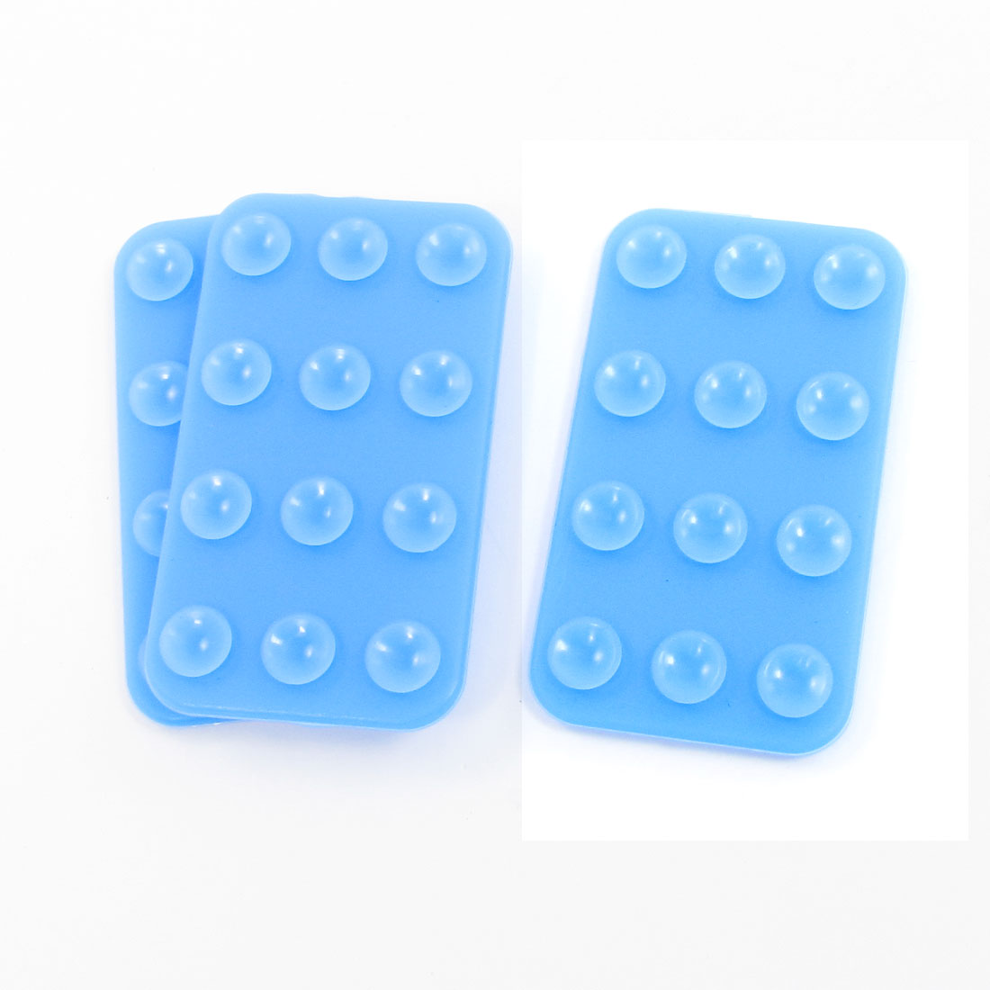 3PCS Mobile Suction Cup Sucker Holder Silicone Case Blue for Tablet PC
