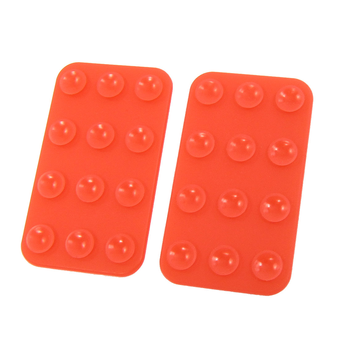 2pcs 74mmx42mm Mobile Silicone Suction Cup Sucker Holder Red for Tablet PC
