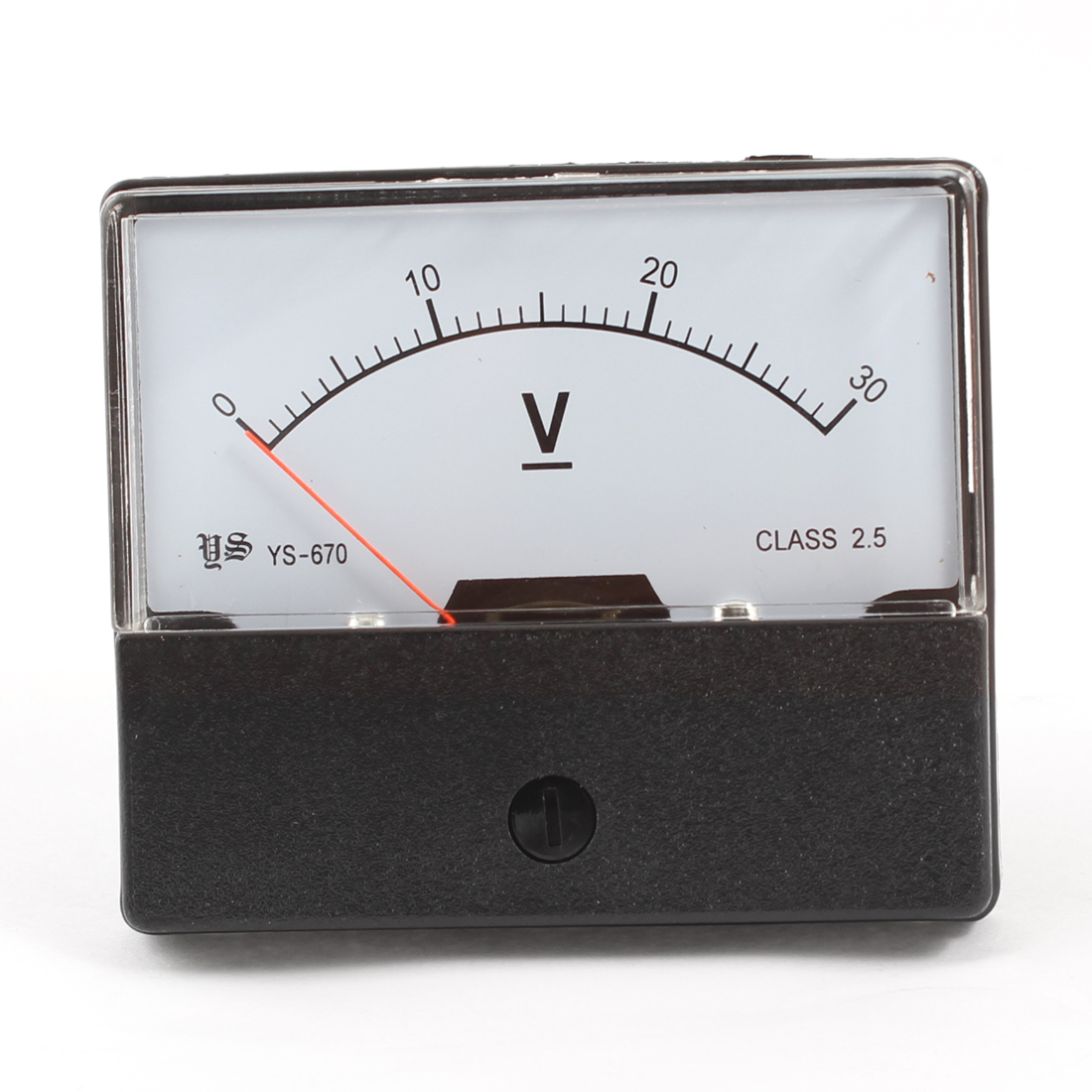 DC 0-30V Rectangle Direct Current Volttage Analog Panel Meter YS-670