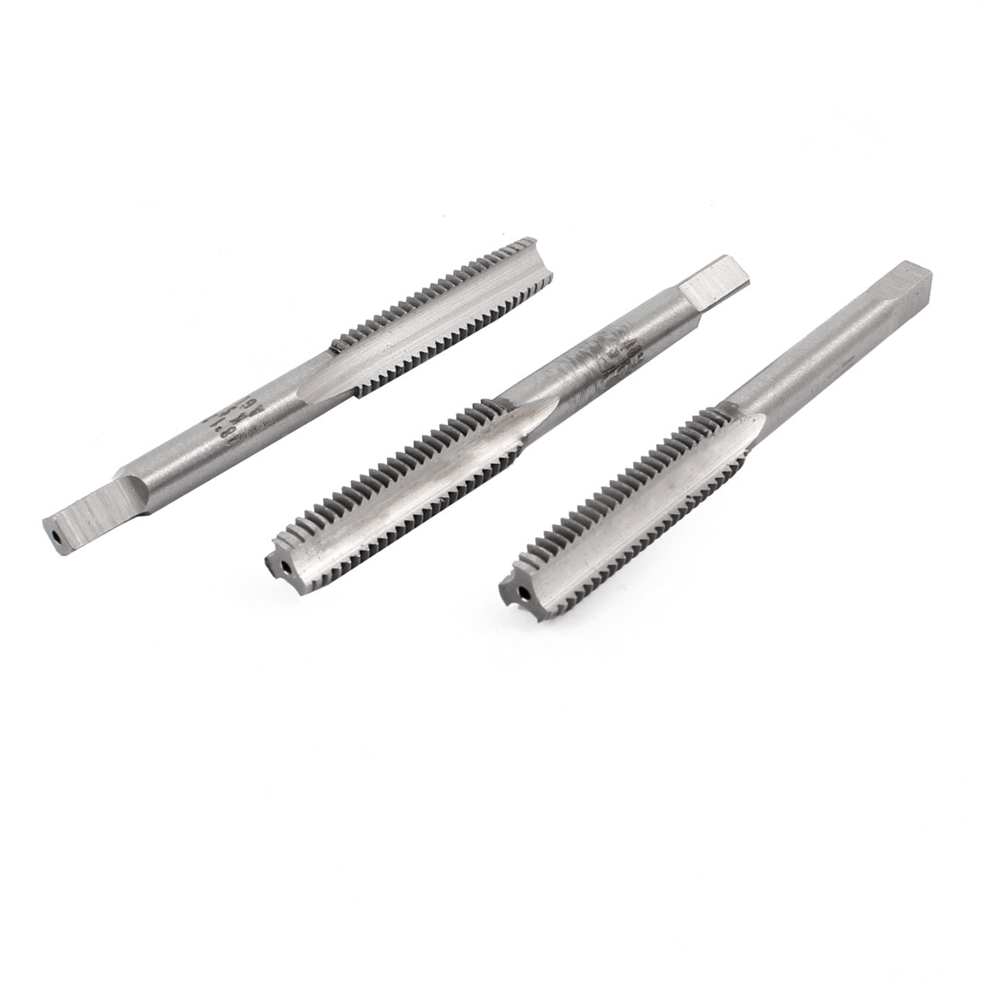 3 Pcs 6.5mm x 1.5mm Taper and Plug Metric Tap M6.5 x 1.5mm Pitch
