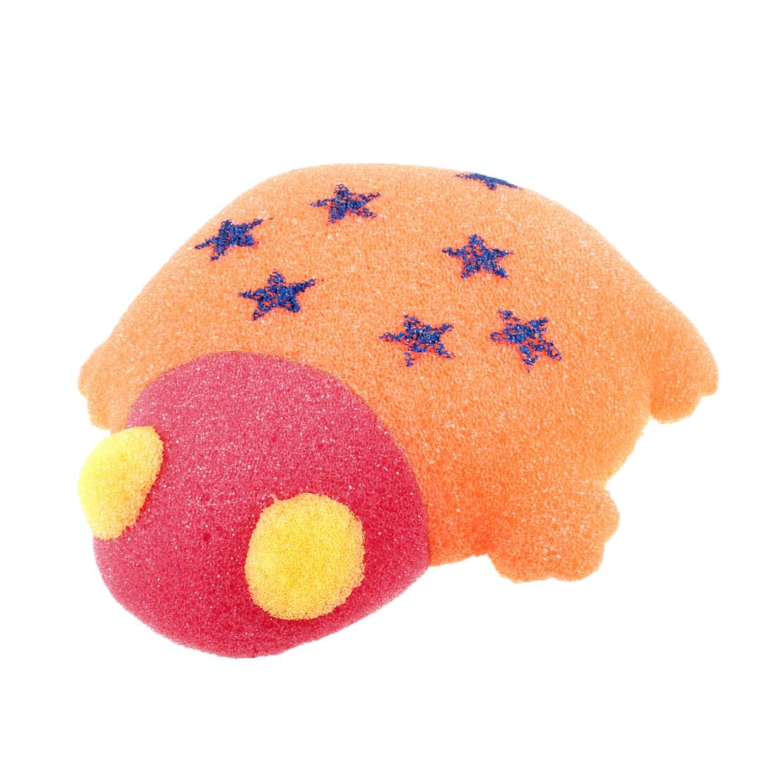 Bathroom Body Care Frog Shape Sponge Bath Shower Orange Red Yellow