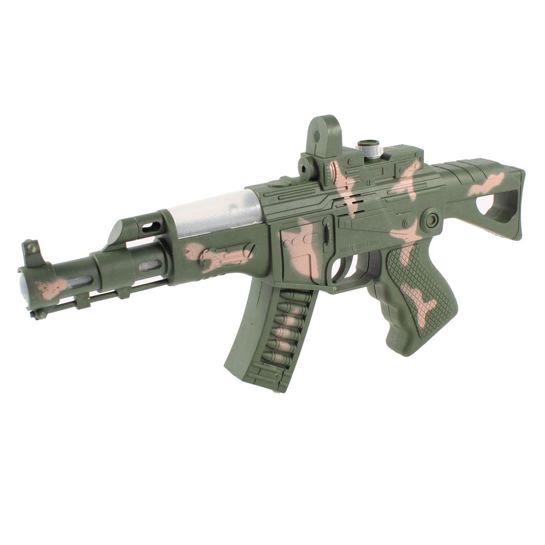 Dark Gray Plastic Camouflage Manual Machine Gun Model Toys for Children