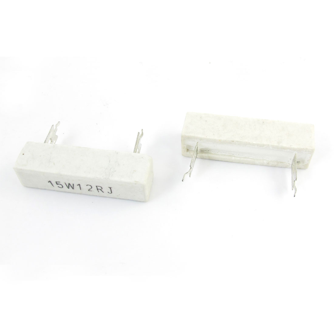 2 Pcs Fixed Wire Wound Ceramic Cement Resistor 12 Ohm 15W 5%