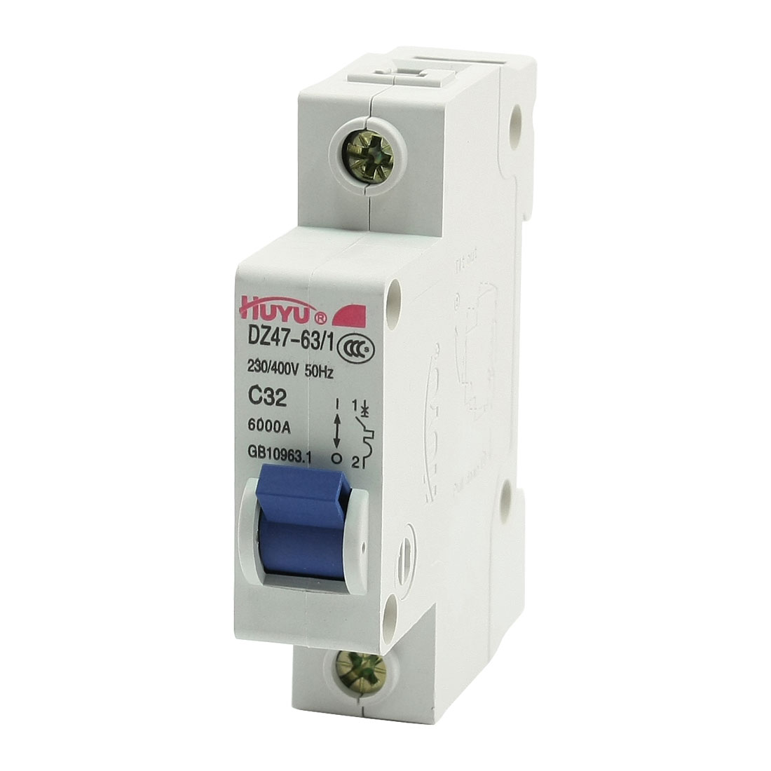 DZ47-63/1 35mm DIN Rail Mounting 32A Industrial Circuit Breaker