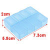 Daily Marked Blue 8 Medicine Pill Box 7.3cm x 5.8cm x 2cm
