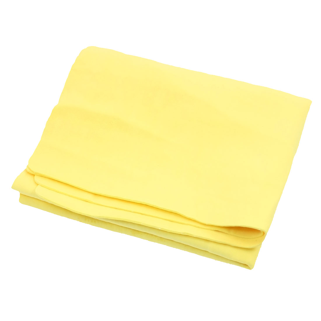 66 x 43cm Furniture Glass Clean Cham Synthetic Chamois Water Absorb Towel Yellow