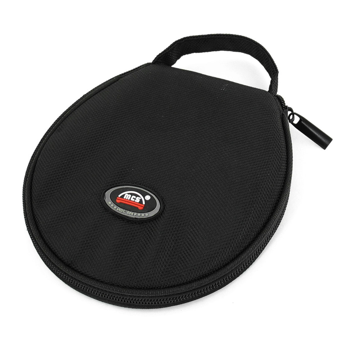 Family Car Zip up Closure Round Shaped 20 Pieces CD VCD Disc Holder Bag Black