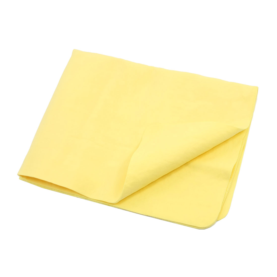 Synthetic Chamois Auto Car Furniture Rectangle Cleaning Clean Cham Towel Yellow