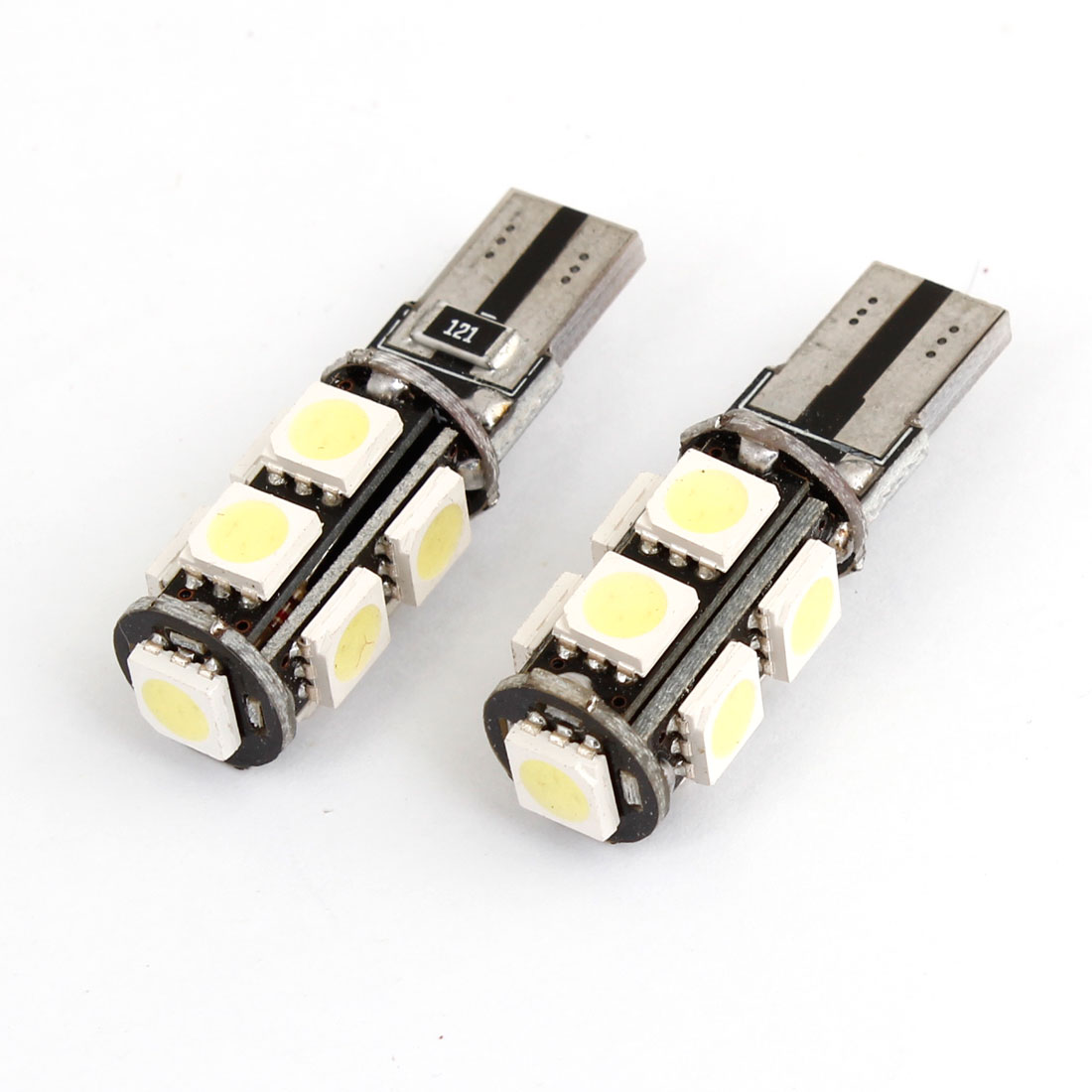 Error Free Canbus 2825 2821 W5W T10 9 5050 SMD LED White Car Light Bulb 2 Pcs
