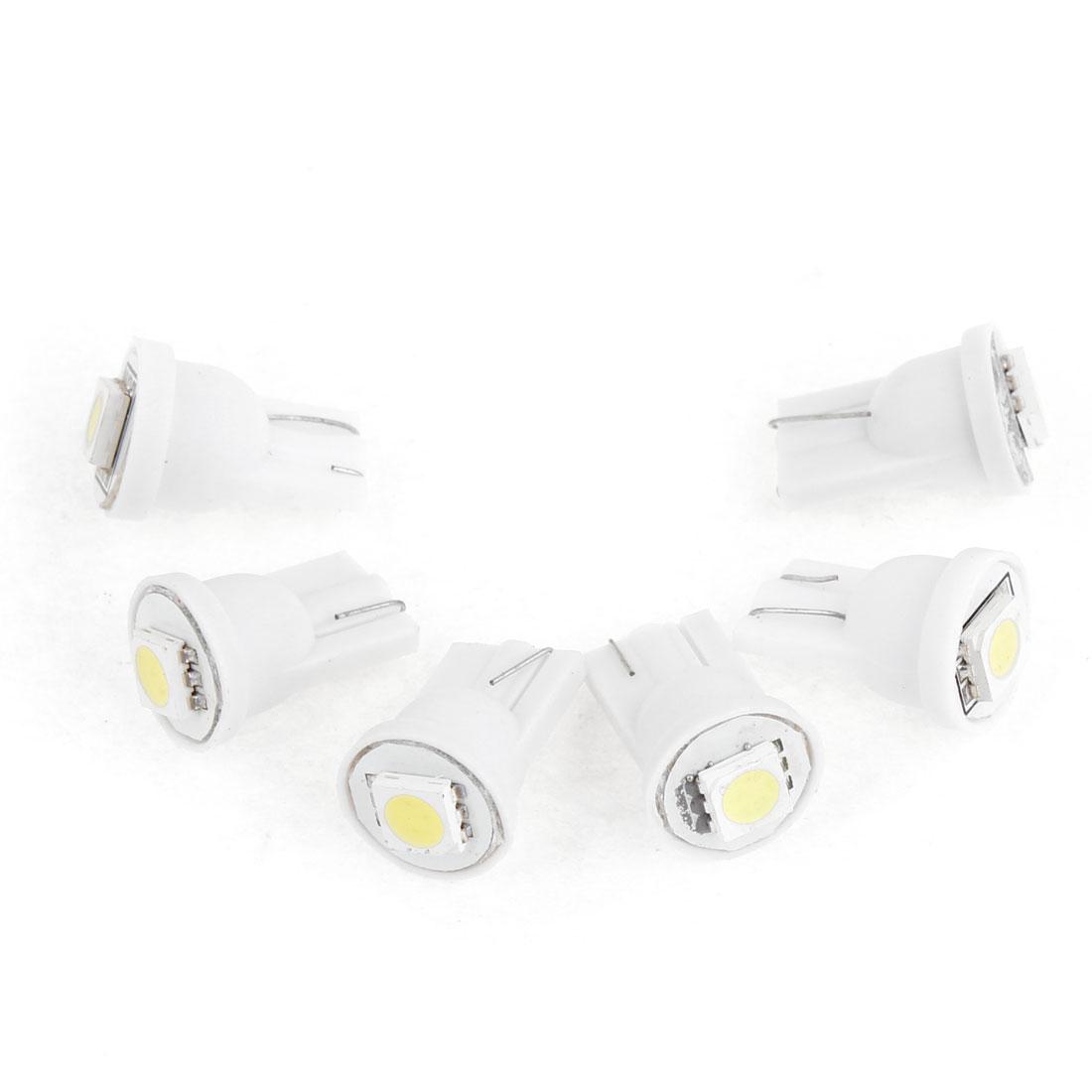 6 Pcs T10 5050 SMD White LED Instrument Board Light Bulb for Car internal
