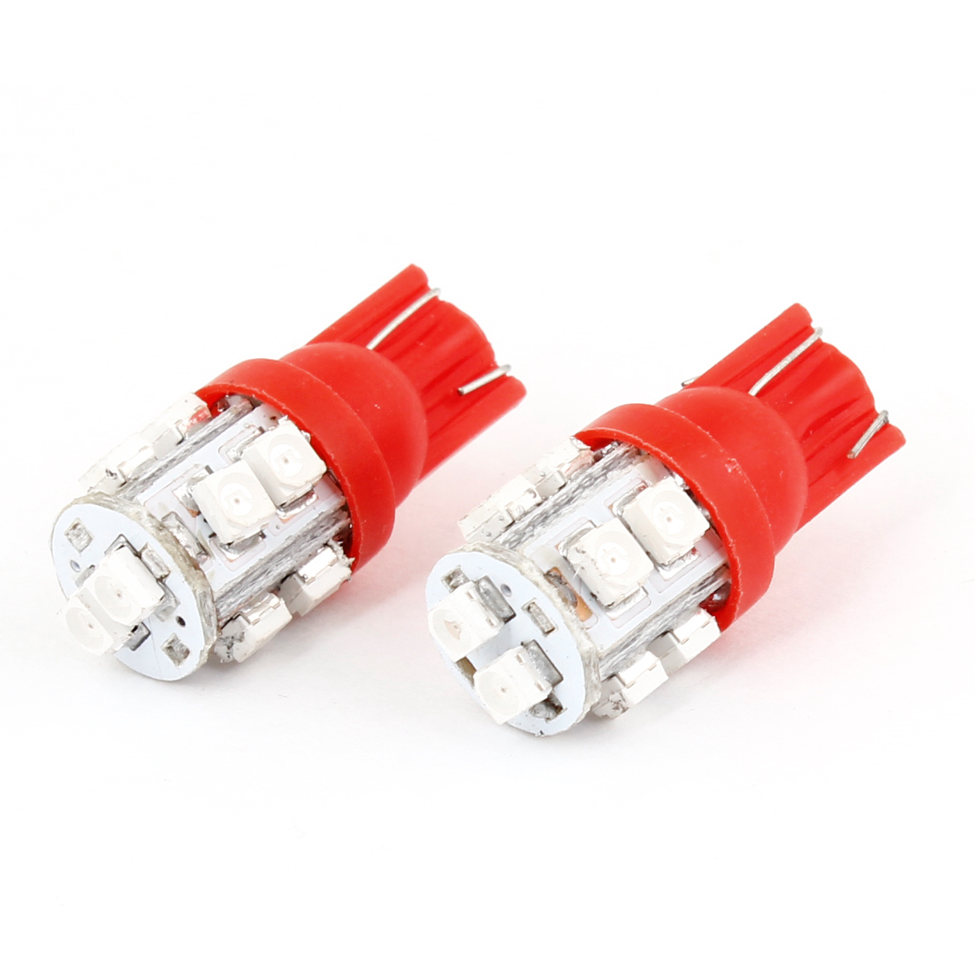 2 Pcs Car Auto T10 Red 10-SMD 1210 158 168 194 LED Light Bulb Lamp