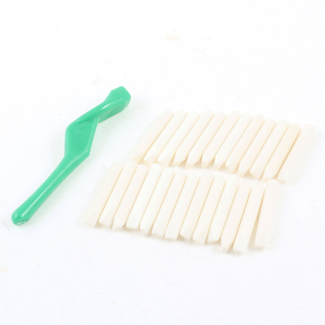 Teeth Tooth Dental Stains Cleaner Cyan Stick + 25 Pcs Eraser