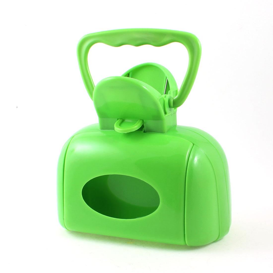 Pet Cat Puppy Spring Action Green Plastic Poop Scooper Grip