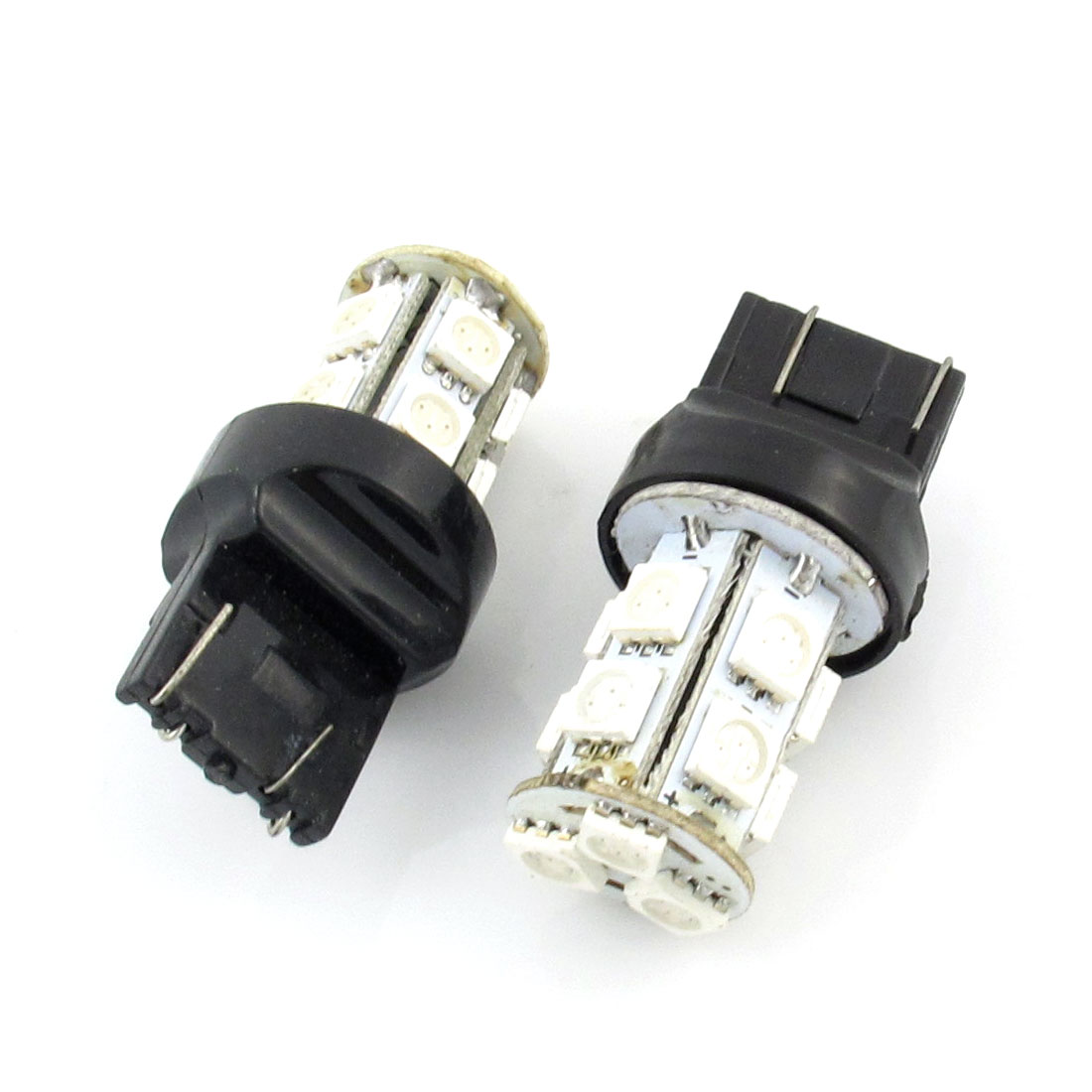 2 Pcs 7443 13 Yellow 5050 SMD LED Auto Car Dashboard Panel Light Bulb internal