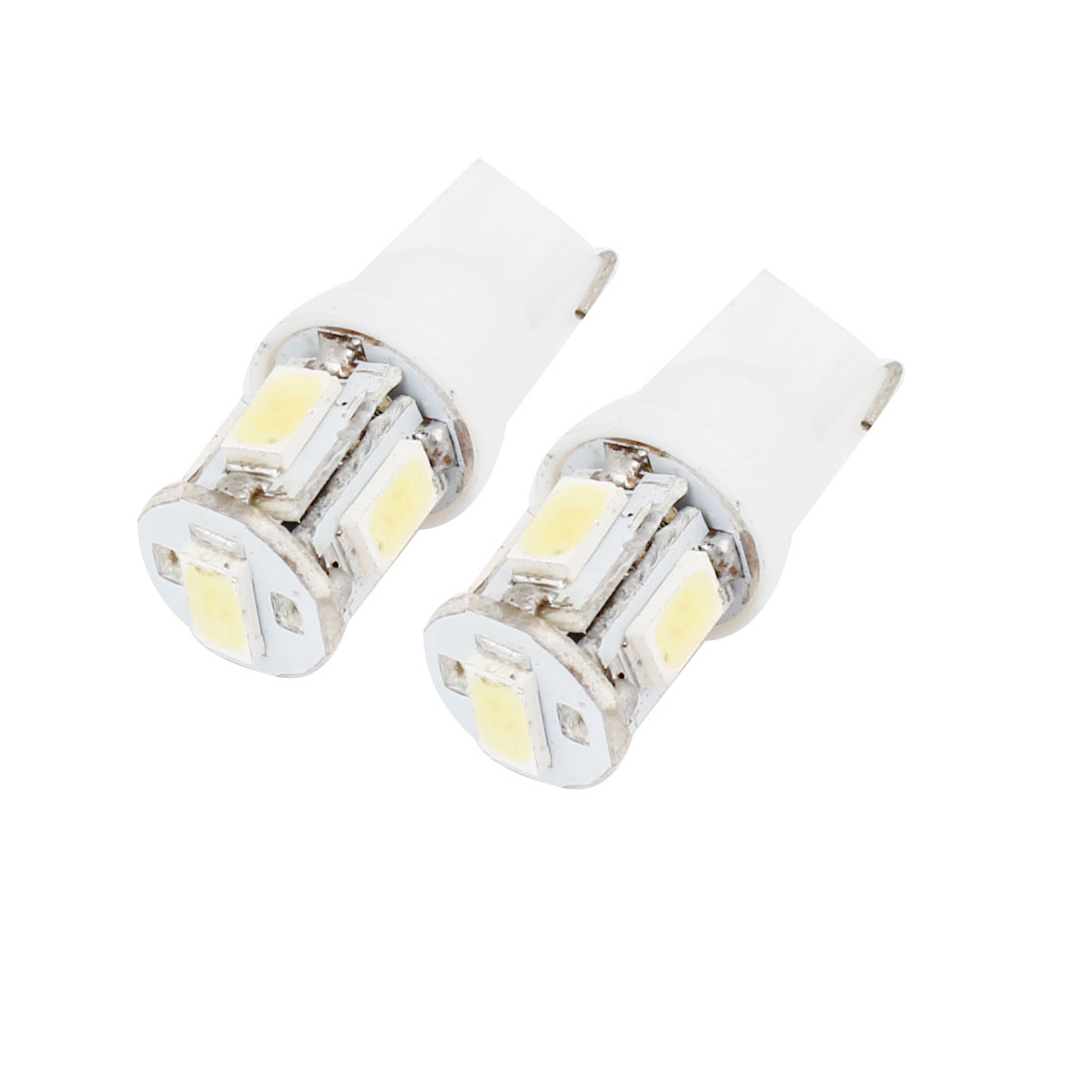2 x T10 916 W5W White 5 5630 SMD LED Auto Gauge Light Bulbs Lamps