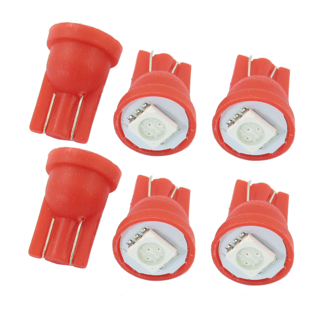 6 Pcs DC 12V T10 Car Red LED 5050 SMD Light Meter Panel Bulb Lamp Side Wedge