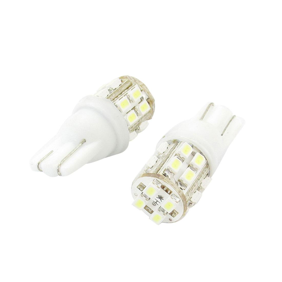 2 Pcs Car Auto T10 White 1206 20 SMD LED Tail Brake Light Bulb Lamp