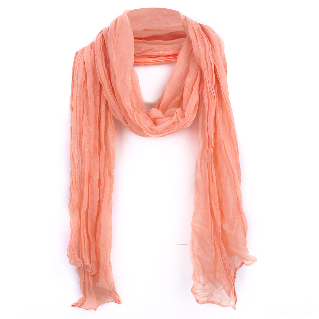 Women Semi Sheer Soft Stylish Scarf Pale Pink