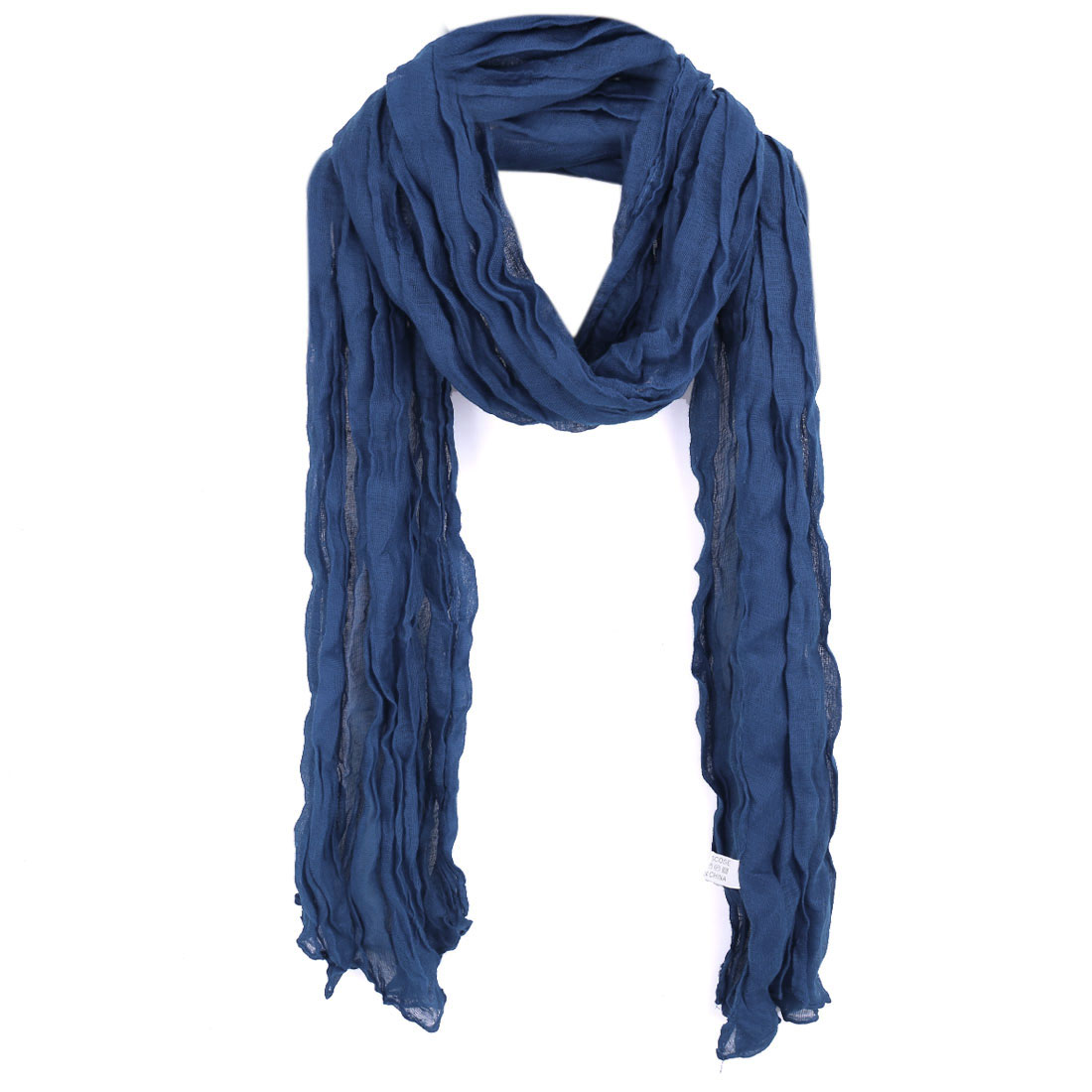 Women Pleated Pefect Accessory Leisure Scarf Royal Blue