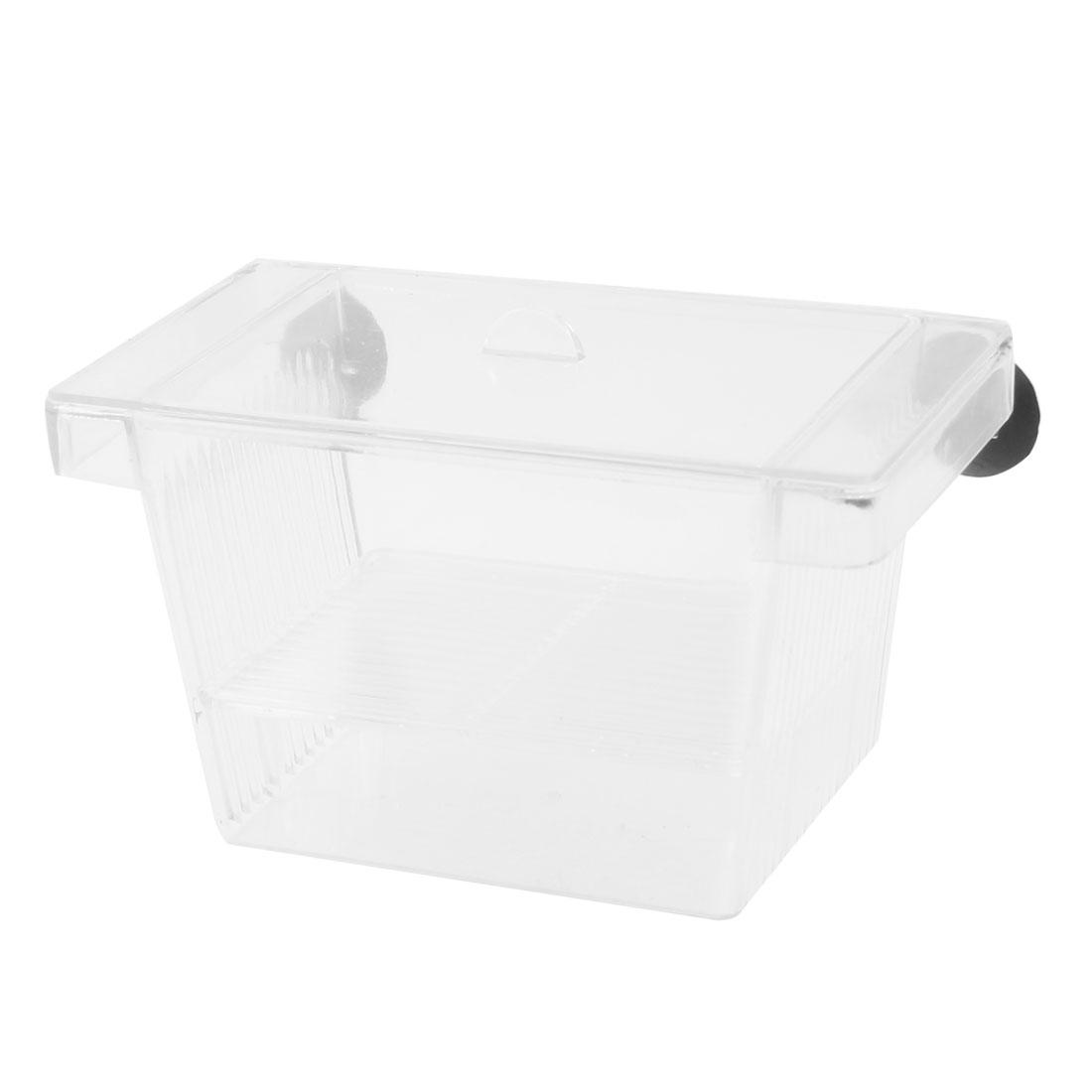 Aquarium Clear Plastic 2 Layers Fish Spawn Hatchery Breeder Separation Tank Box