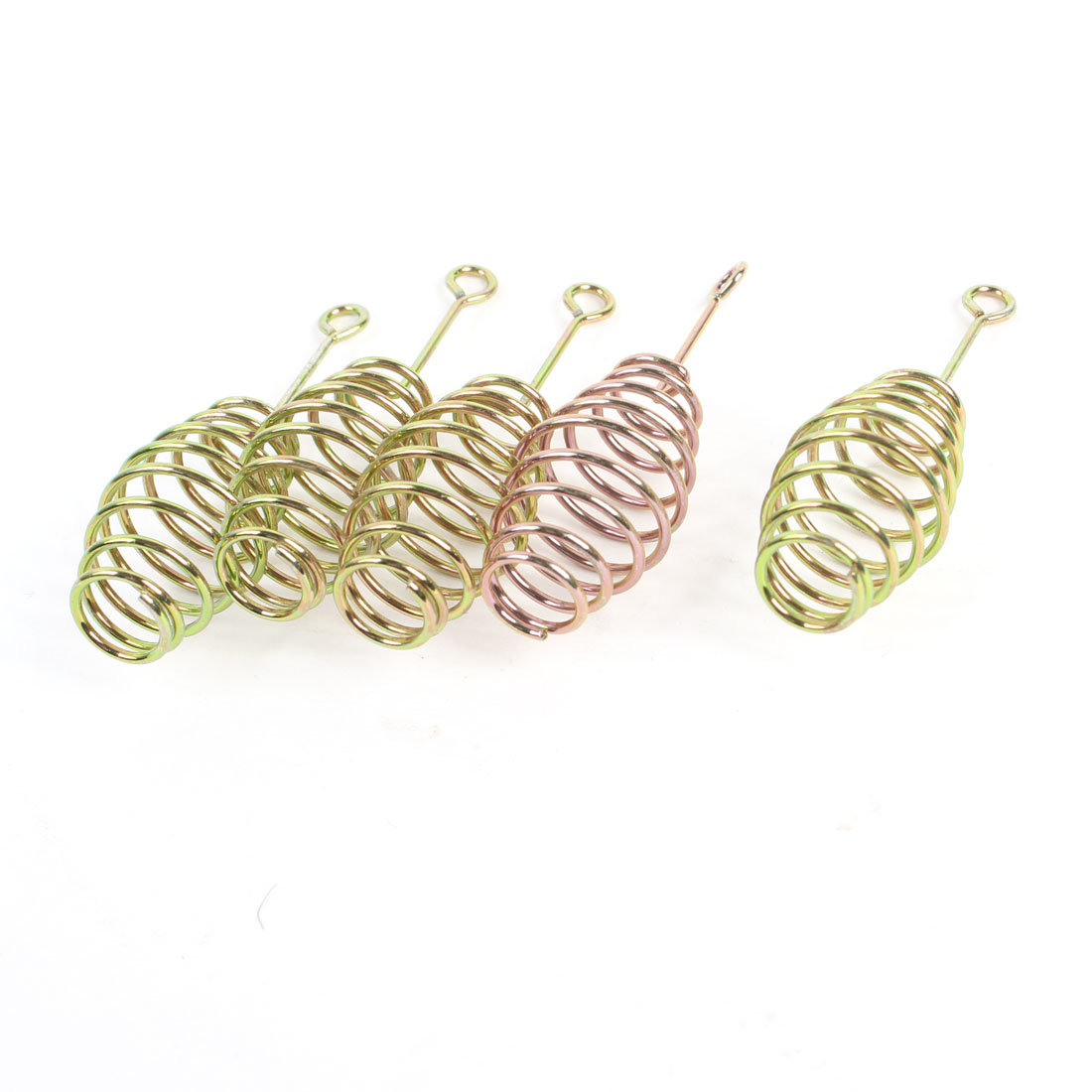 5 Pcs Bronze Tone Replacement Metal Fishing Feeder Coil