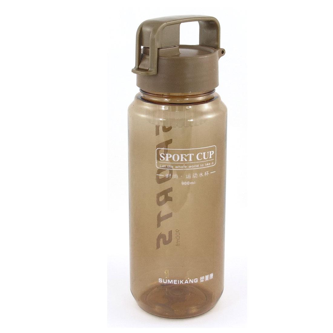 900ml Brown Protable Finger Loop Grip Sports Cup Water Bottle for Explorer