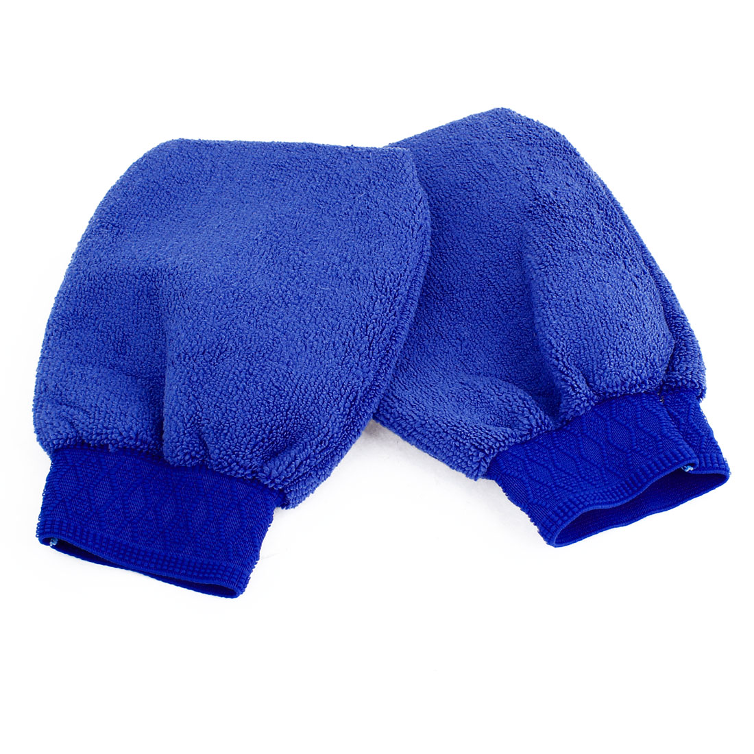 2 Pce Blue Cleaning Vehicle Glove Car Wash Mitten Brush