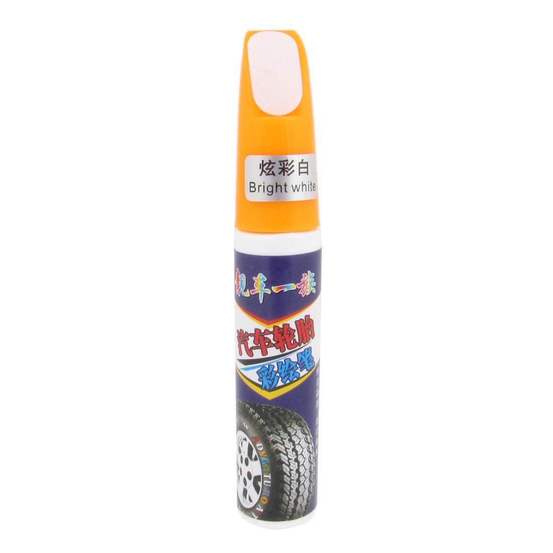 Orange Plastic Cap White Tyre Tire Paint Marker for Auto Car