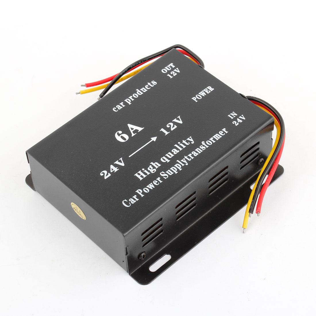 6A DC 24V to 12V Voltage Reducer Converter Car Power Supply Transformer