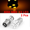 2 x 1157 Yellow 13 LED 5050 SMD Brake Reversing Signal Light Bulb for Car