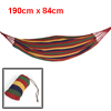 Camping Red Green Yellow Canvas Hammock Sleeping Bed 190cm x 84cm