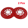 2 Pcs Aluminum Disc Brake Cross-Drilled Rotor Cover Red for Truck Car Vehicle
