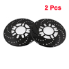 2 Pcs Aluminum Disc Brake Cross-Drilled Rotor Cover Black for Truck Car Vehicle