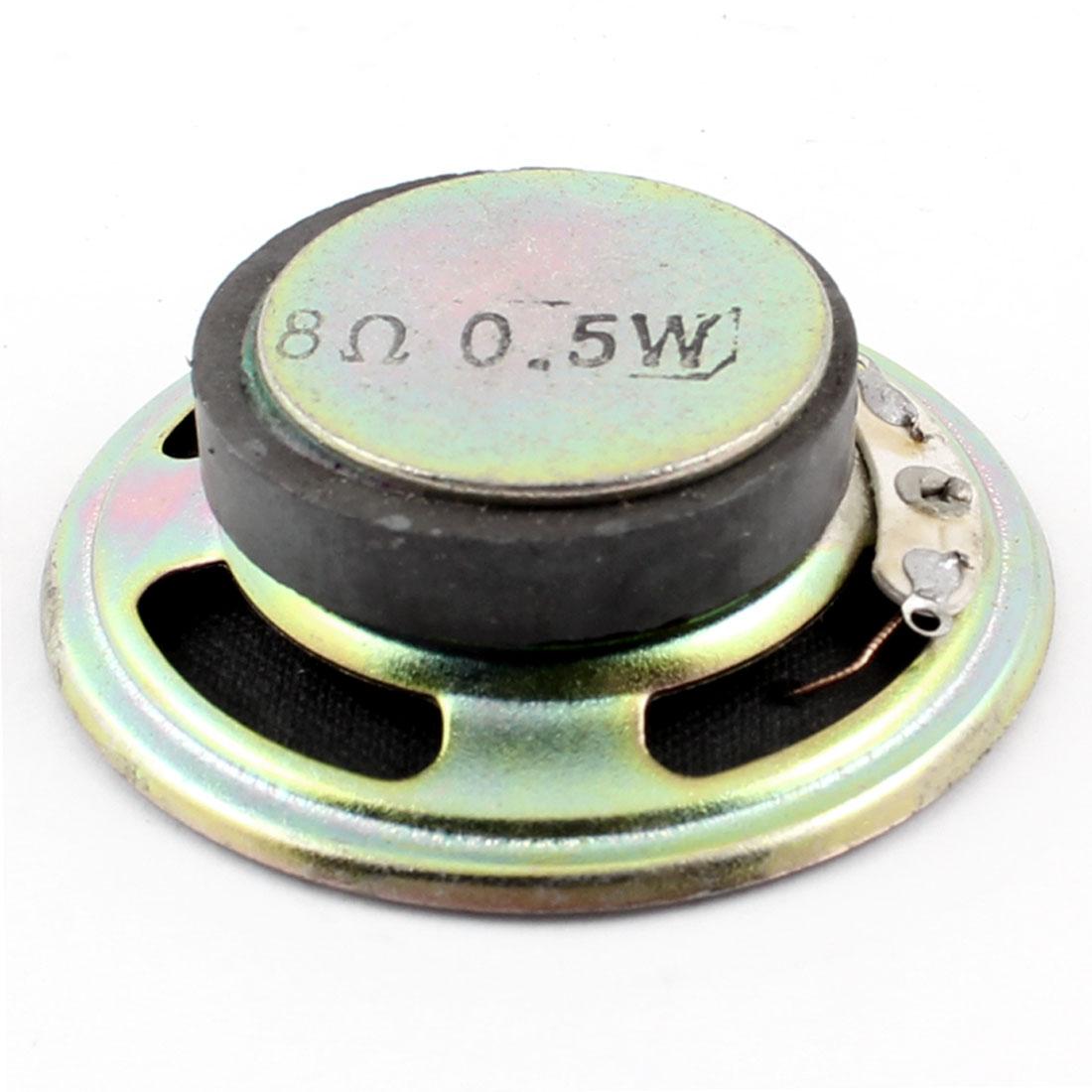 Replacement Part 50mm Diameter Round Internal Magnet Speaker 8 Ohm 0.5W