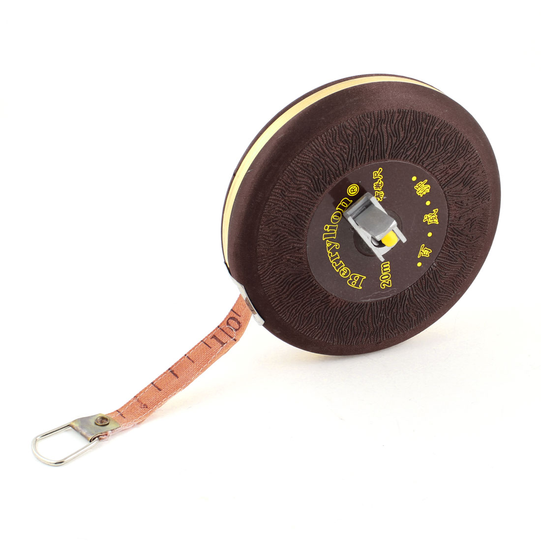 Burgundy Shell 20M Metric Retractable Fiberglass Tape Measure Ruler