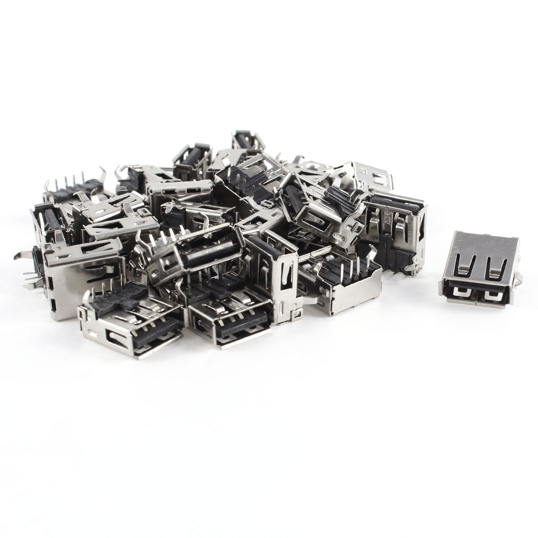 30 Pcs USB 2.0 Female Type A 4-Pin DIP 90 Degree Jack Socket Connector