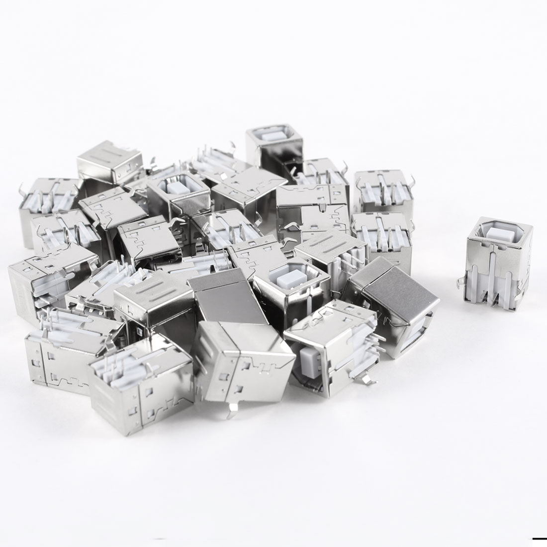 30 Pcs USB Female Type-B Jack 4-Pin 90 Degree PCB DIP Socket Connector