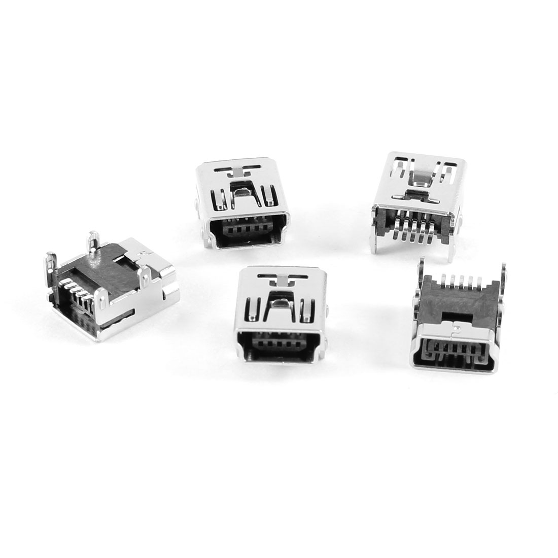 5 Pcs Mini USB Type B Female Socket 5-Pin 180 Degree SMD SMT Jack Connector