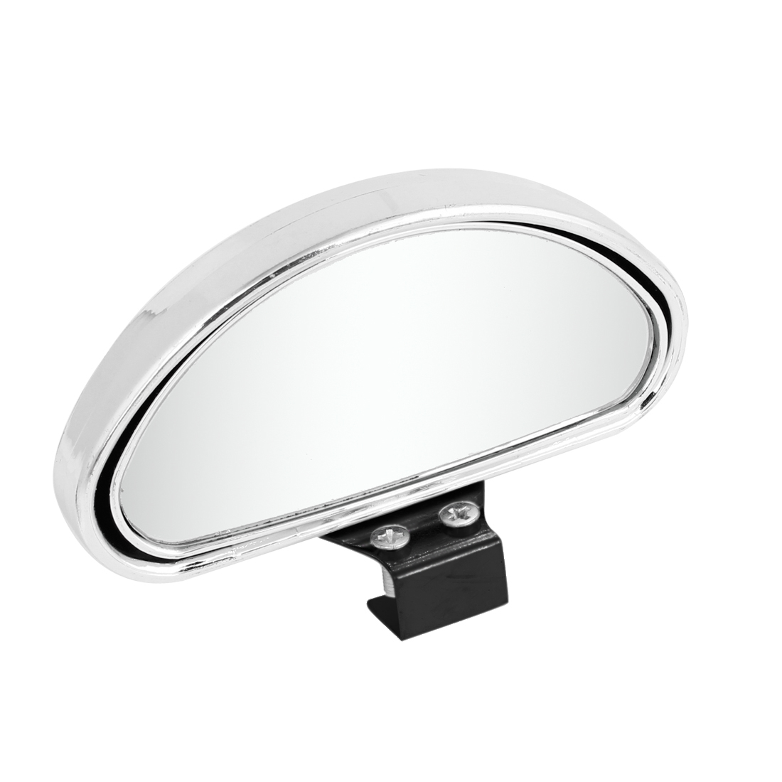 Silver Tone Arch Shaped Convex Adjustable Wide Angle Car Truck Blind Spot Mirror