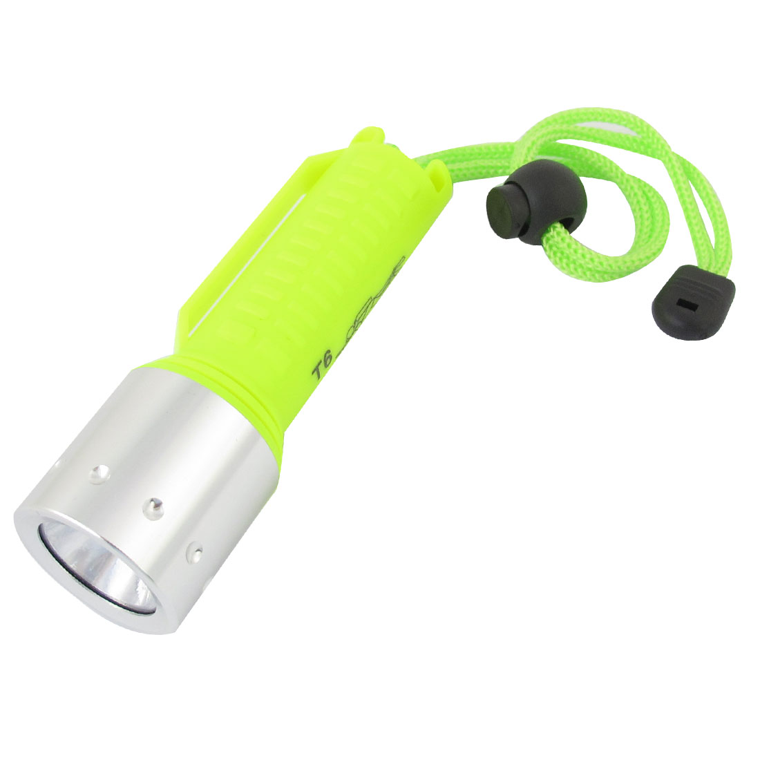 200-800LM T6 LED Diving Flashlight Torch Waterproof Light Yellow Silver Tone