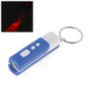 Poratble Blue Plastic Shell Rectangle LCD Projection Clock w Keychain Keyring