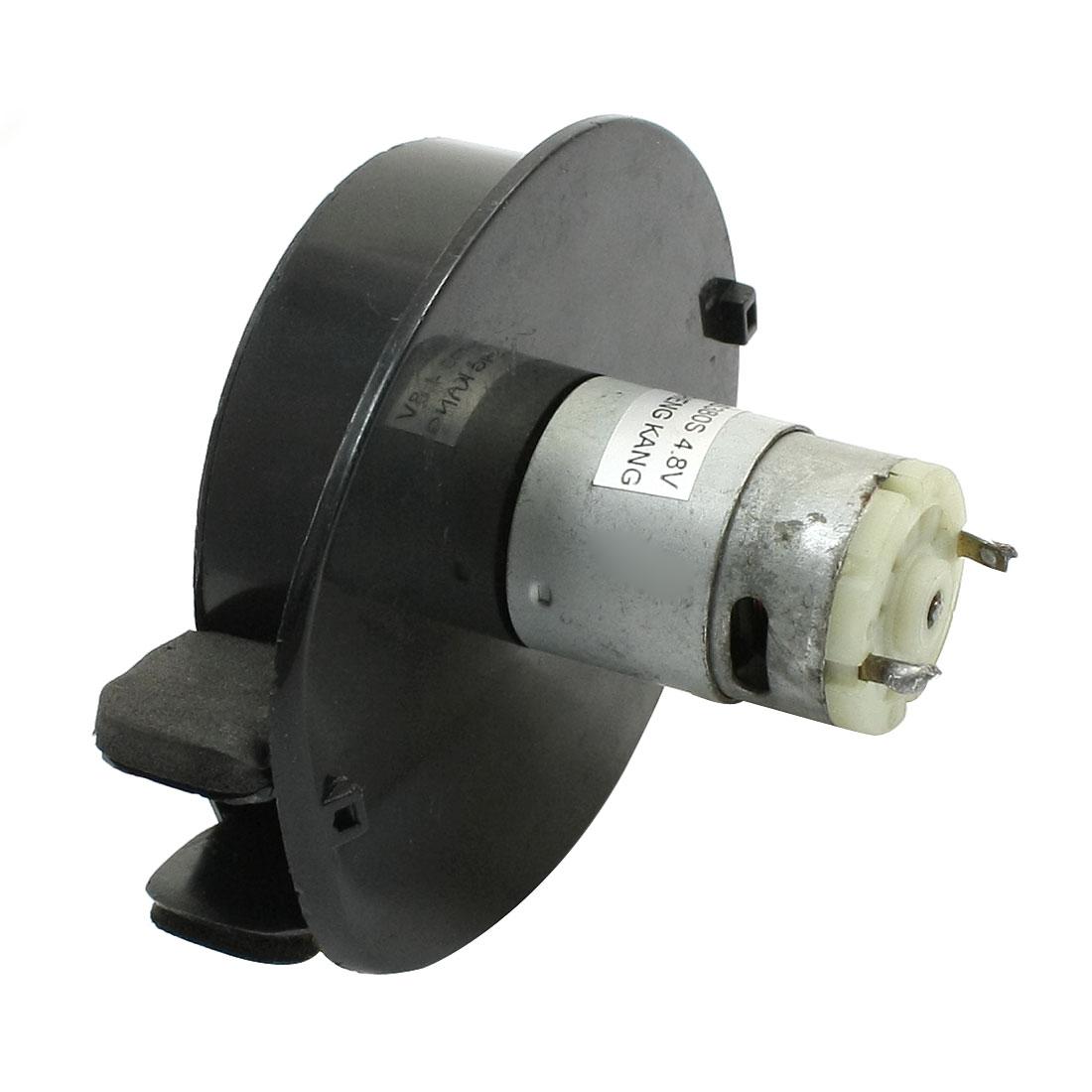 Vacuum Cleaner Magnetic DC Micro Motor 4.8V w Black Plastic Air Blower