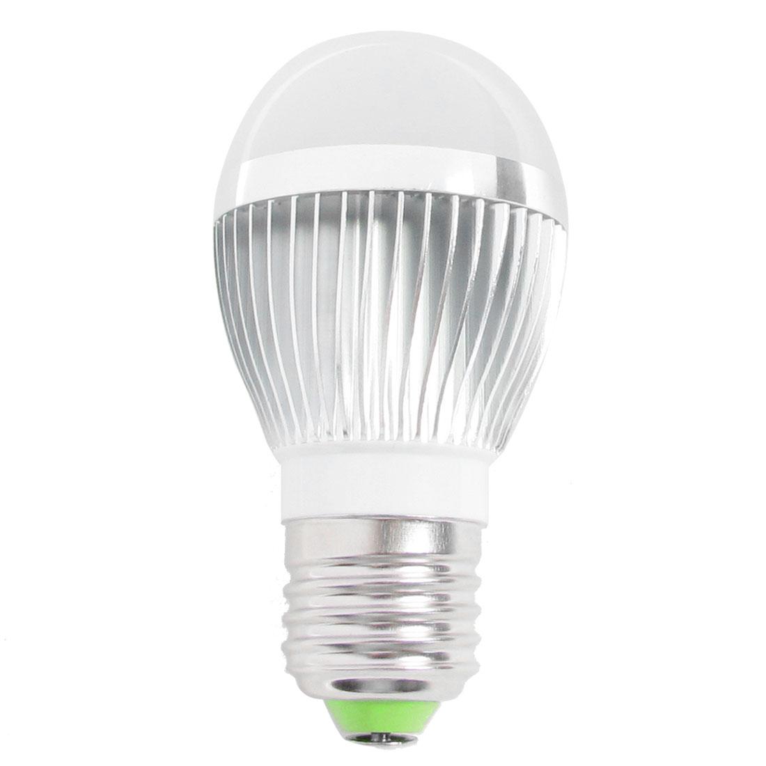 Aluminum Alloy E27 3W 3 SMD LED Globe Ball Light Lamp Warm White AC 220V