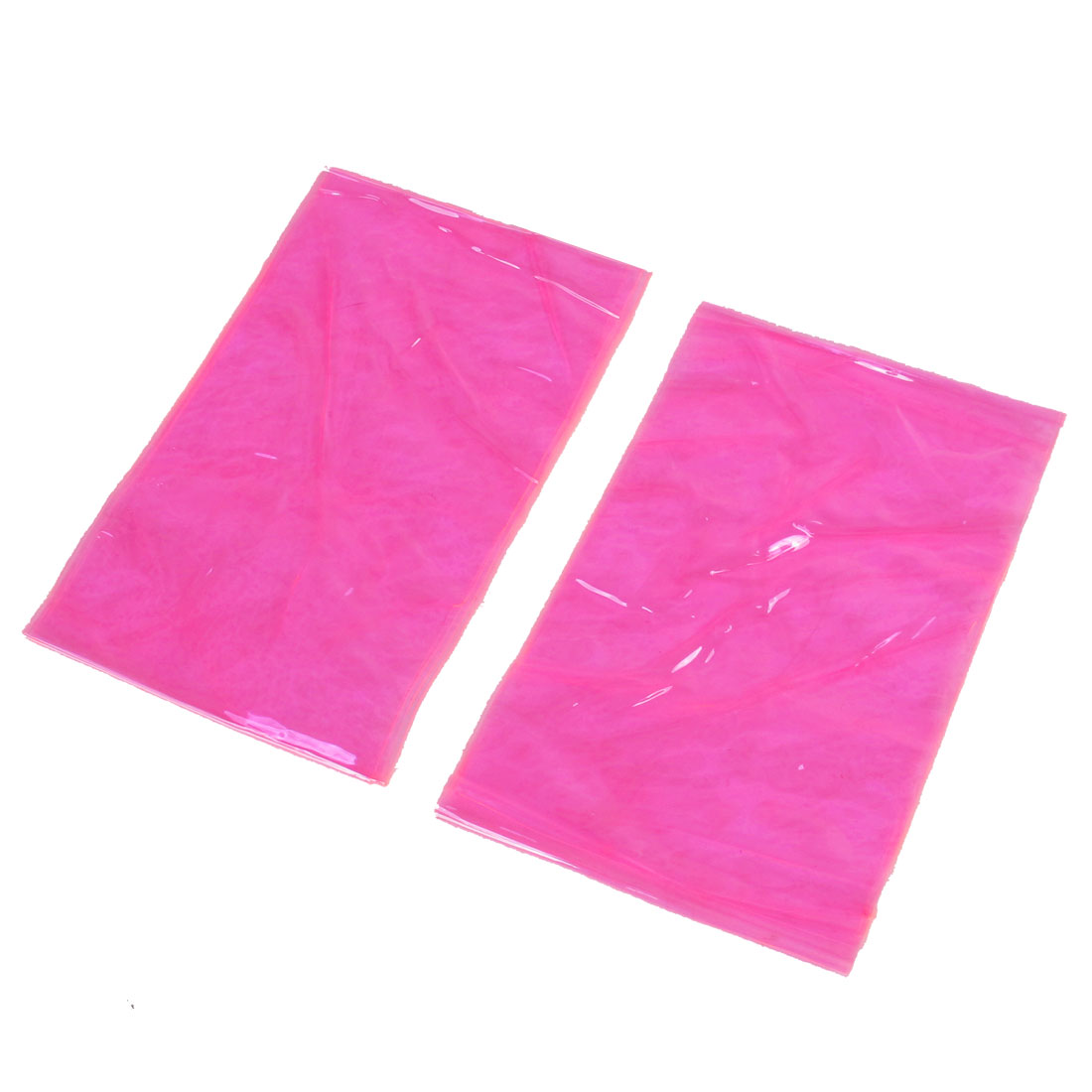 2 Pcs Clear Pink Soft Plastic Band Leg Shaper Slimming Sauna Spa Belt for Women
