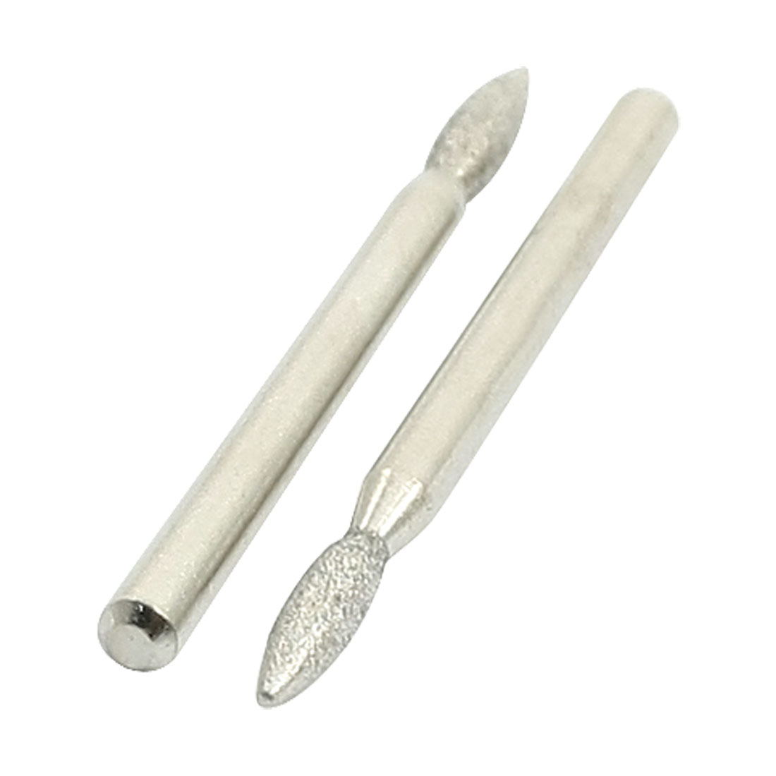 3mm Shank 2.6mm Tip Diamond Points Grinding Drill Bit 2 Pieces