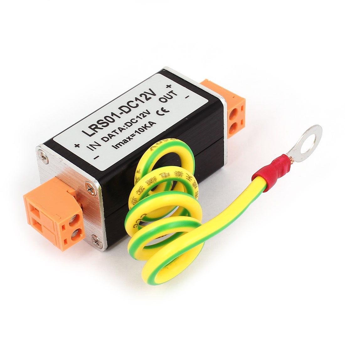 DC 12V Power Supply Surge Protection Arrester Black Orange