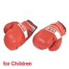 Pair Hook Loop Closure Kickboxing Boxing Gloves Mitt Red for Kids