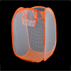 Home Laundry Foldable Mesh Nylon Underwear Clothing Washing Bag Orange White