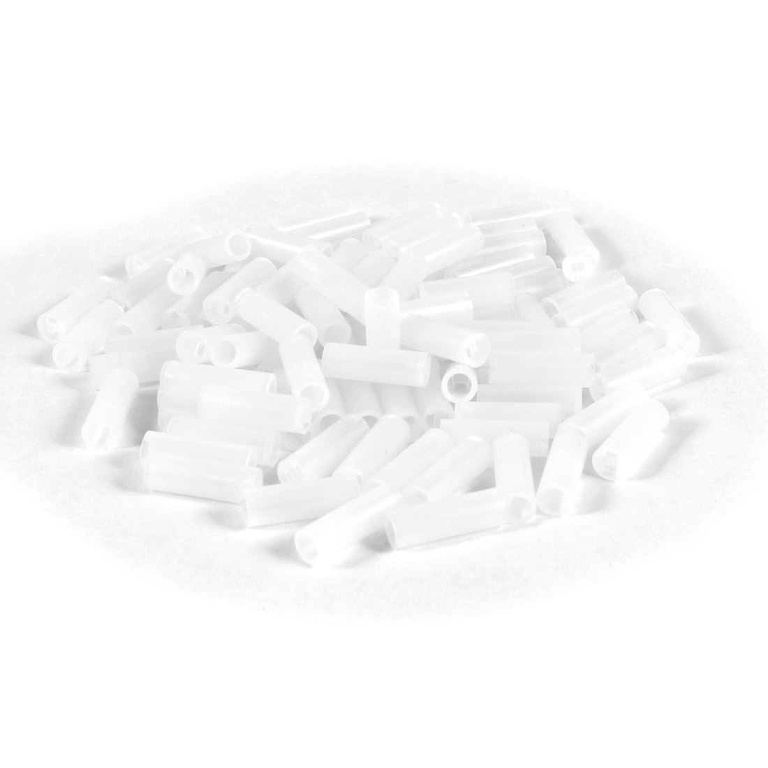 100 Pcs 5mmx15mm White Nylon 66 LED Spacer Supports Cylindrical for PC Board